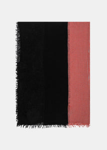 Black & Red Two-Tone Needle Punch Scarf