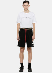 Black 'LOVERS' Track Shorts