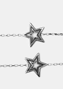 2 Face & Cut Out Star Necklace