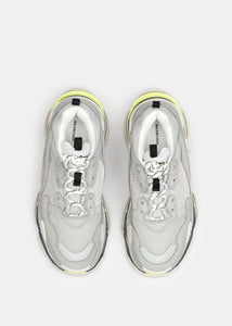 Off White & Grey Triple S Trainers