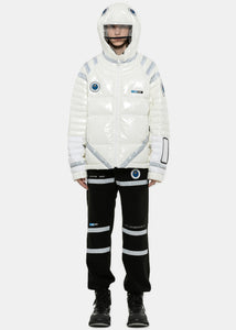 White Padded Space Suit Jacket