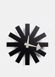 Black Asterisk Clock