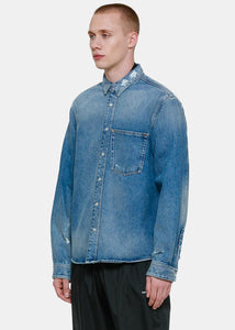 Blue Shrunken Denim Shirt