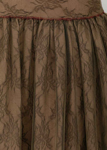 Brown Layered Skirt