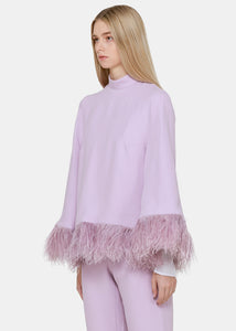 Lilac Ostrich Feather Top