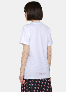 White Large Fit Moon T-Shirt