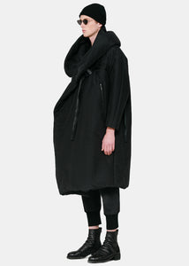 Black Oversized Cotton Coat