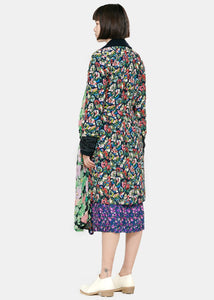 Navy & Multicolor Reversible Layered Coat
