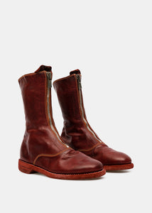 Red 310 Front Zip Army Boots