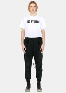 Black Contrast Panelled Pants