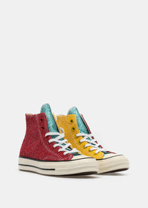Red & Yellow Converse Edition Glitter Chuck 70 High Sneakers