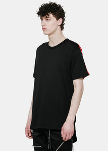 Black & Red Yoke T-Shirt