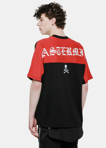 Black & Red Oversized Yoke T-Shirt