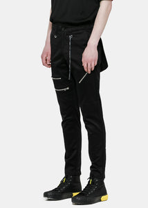 Black Pouch Pants