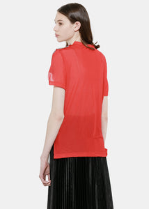 Red Mesh Front T-Shirt