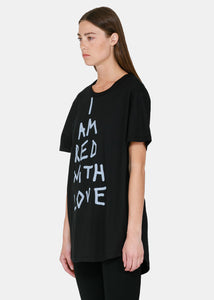 Black Slogan Cotton T-Shirt