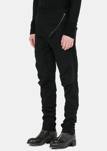 Black Distortion Fitted Trousers