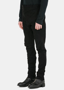 Black Distortion Skinny Trousers