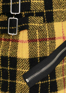 Yellow & Black Check Mini Skirt