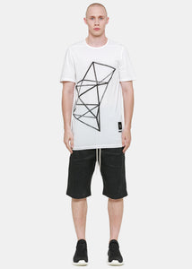 White Oversized J Level T-Shirt
