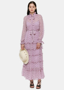 Lilac Ninety-Six Neck Tie Dress