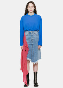 Indigo Sash Denim Skirt