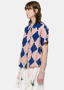 Pink & Blue Shorty Shirt