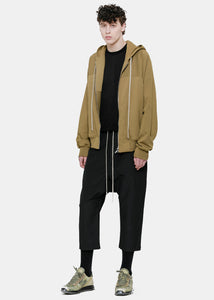 Brown Hooded Maglia Cardigan