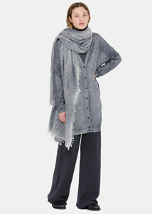 Deep Grey Panelled Cardigan
