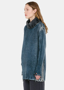 Blue Shadows Turtleneck Sweater