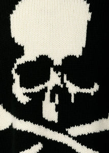 Black Oversized Skull Sweater