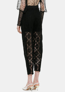 Black Lace Trousers