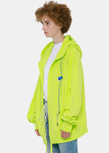 Yellow Oversized Extraterrestrial Hoodie