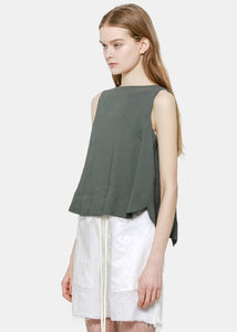 Green Darted Blouse