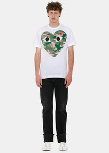 White & Camo Hearts T-Shirt