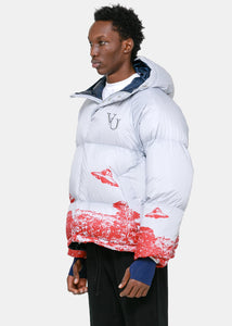 Grey Valentino Edition Puffer Jacket