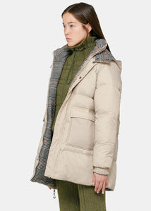 Sand Reversible Snow Down Bubble Jacket