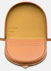 Tan Small Heel Pouch Bag