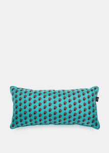 Blue Silk Arm Cushion