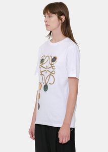 White Brooch Print Anagram T-Shirt