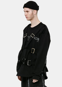 Black Harness Sweatshirt