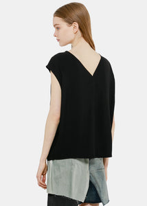 Black V-Neck Blouse