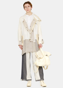 Beige Back Belt Coat