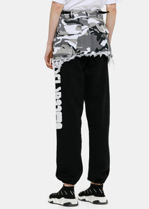 Black & Camo Cargo Jogging Pants