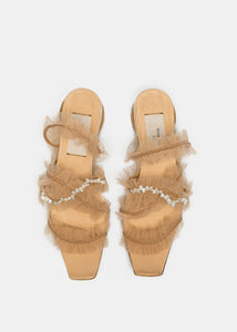 Rose Mash Pearl Slippers