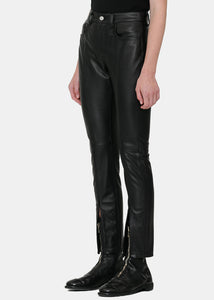 Black Skinny Leather Pants
