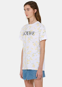 White & Yellow Floral T-Shirt