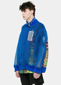 Blue Net Blouson Jacket