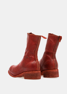 Red PL2 Front Zip Boots