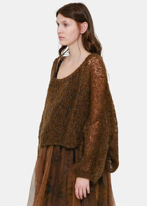 Brown Oversized Wool Sweater